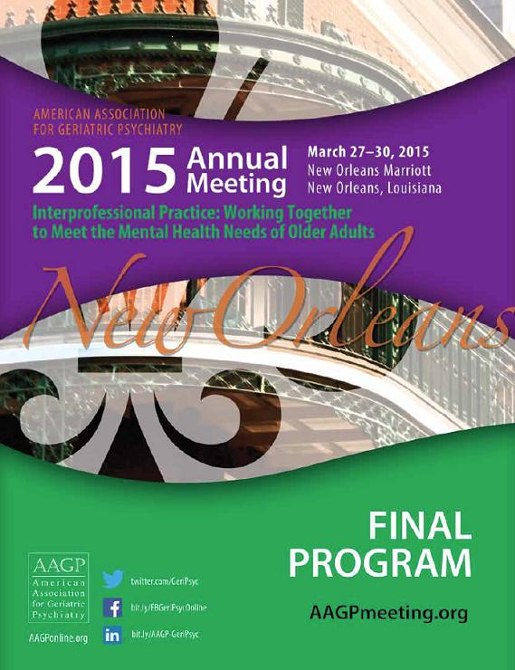 Download the entire AAGP 2015 Annual Meeting Program